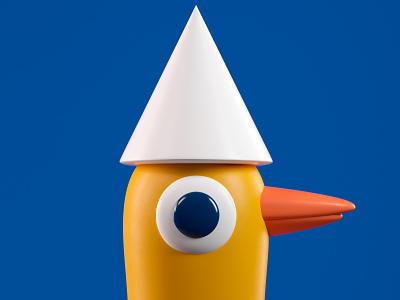 PATO duck illustration octane 3d c4d render character