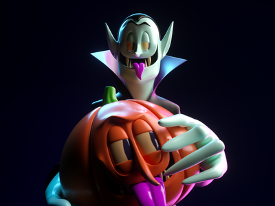 DRACULA dracula persona illustration vector octane 3d c4d render character