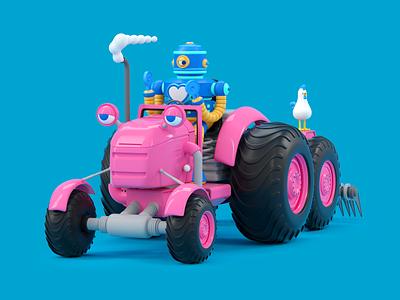 ROBOT robot chicken vector octane 3d c4d render character