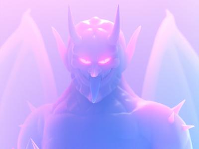 DIABLO devil persona illustration octane 3d c4d render character