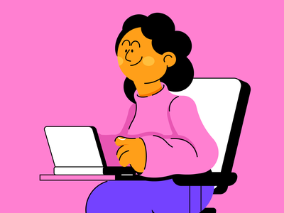 TRABAJO work woman people illustration vector character