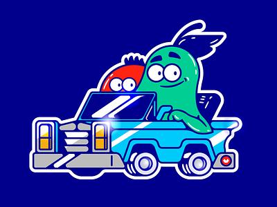 FRUTAS ai tomato pear illustrator car auto frutas ilustracion adobe illustration vector character
