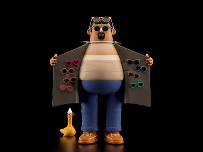 PERSONA persona illustration octane c4d 3d render character
