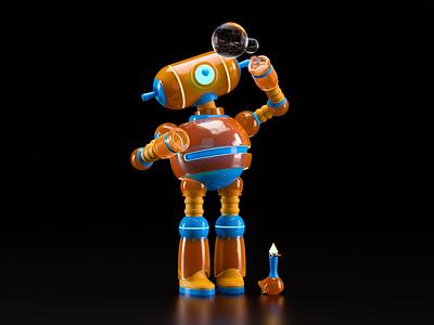 ROBOT illustration octane c4d 3d render character