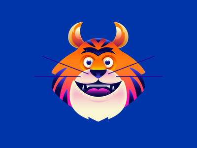 TIGRE adobe gradient tigre tiger illustration vector character