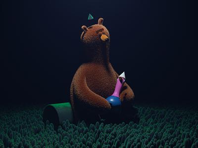 OSO illustration octane c4d 3d render character