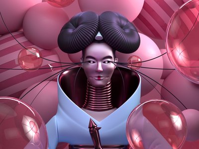 HOMOGENIC music illustration octane c4d 3d render character