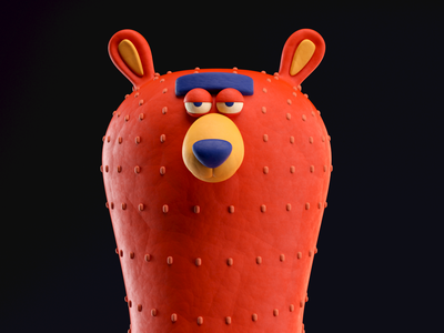 OSO oso bear illustration octane c4d 3d render character