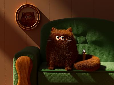 GATO pato miau gato cat duck illustration octane c4d 3d render character