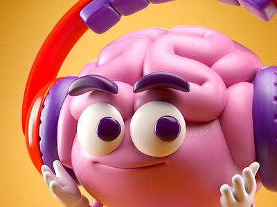 CEREBRO 3d c4d octane illustration cerebro brain render character