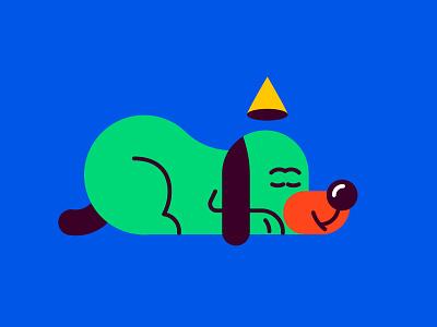 PERRO VERDE adobe ai verde perro dog vector illustration character