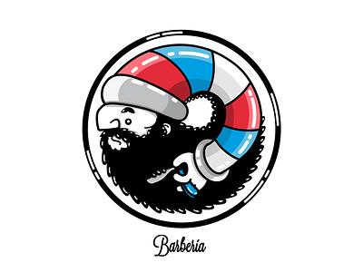 BARBERÍA beard barberia man character