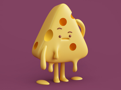 QUESO! gente people food 3d render queso character cheese