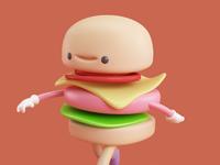 Render hamburguesa