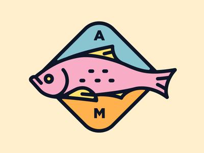 TRUCHA! ai illustration pez marca trucha am brand