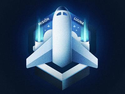 Misión! luna light illustration gradient space ai. nava
