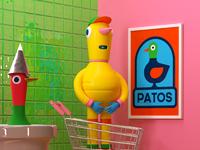 Patos y padre