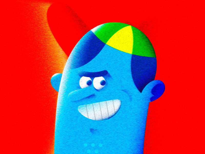 PERSONA! gradient persona cap illustrator vector character