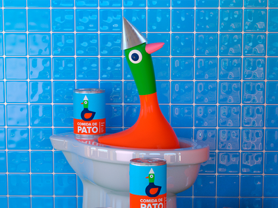 Pato! octane c4d cool 3d character render pato duck