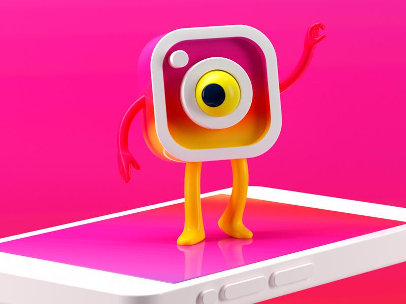INSTAGRAM social instagram octane render c4d character