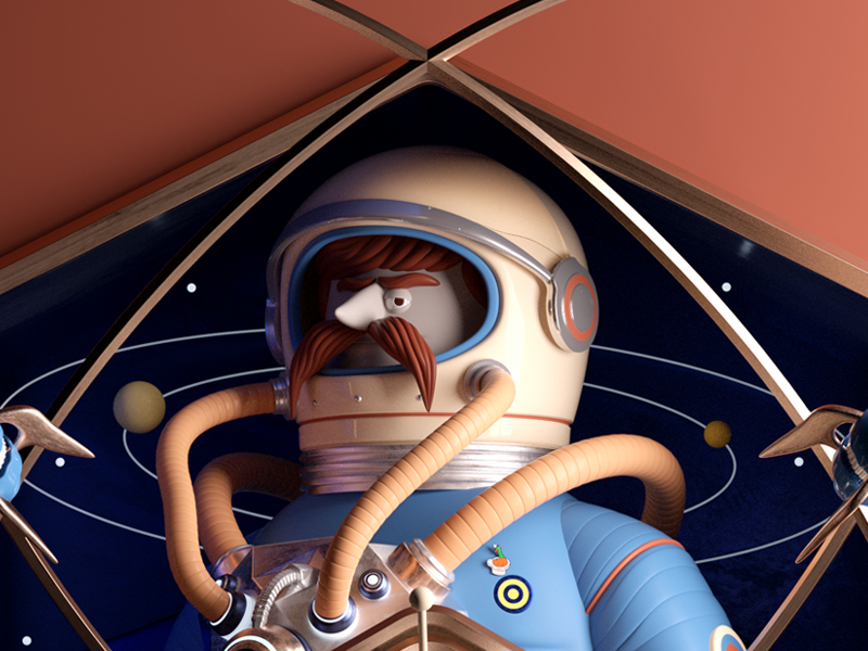ASTRO! persona man mr plane astro octane render c4d character