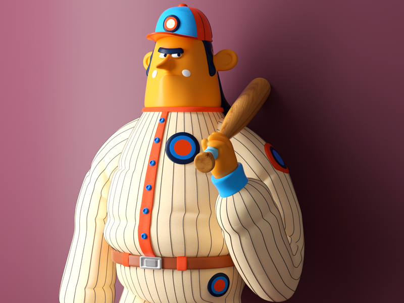 HOMBRE DEPORTE persona player octane 3d character baseball