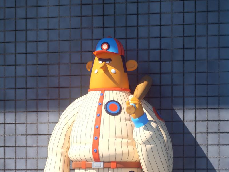 BASEBALL! persona player octane 3d character baseball