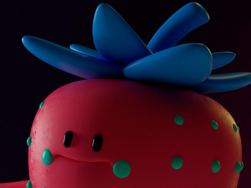 FRESA! fruta octane c4d fresa strawberry