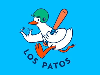 Patos pato duck character illustration vector