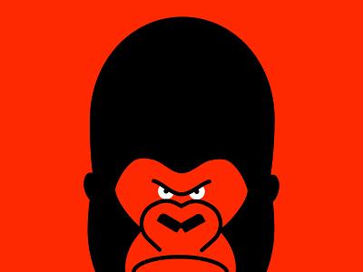 GORILLA gorilla ape illustration vector character