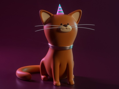 GATO cat gato illustration octane 3d c4d render character