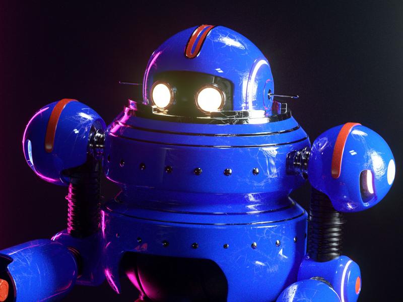 ROBOT octane robot render c4d character