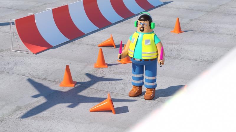 Render Avion Sol people illustration persona man octane 3d c4d render character