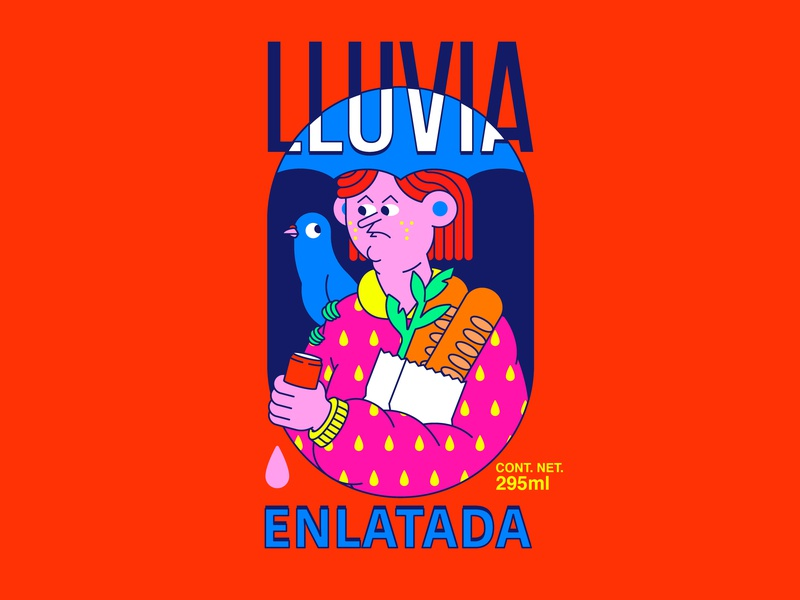 LLUVIA girl people persona illustration octane vector character