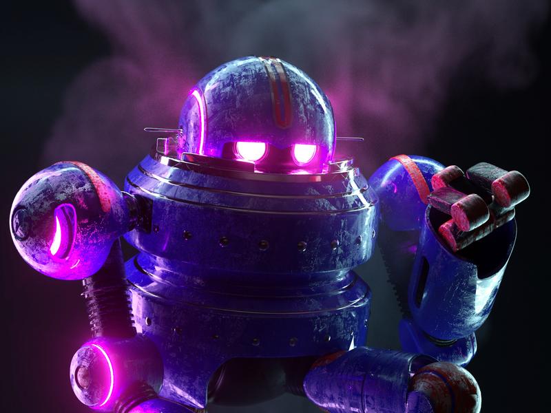 ROBOT fog robot illustration persona octane c4d render 3d character