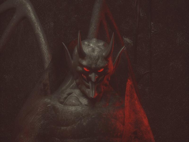 EL DIABLO diablo persona octane render c4d 3d character illustration