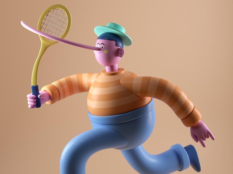 MR. NOSE man people persona illustration octane 3d c4d render character