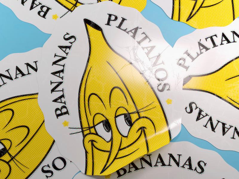 BANANA food c4d octane 3d render branding design logo vector illustration persona character