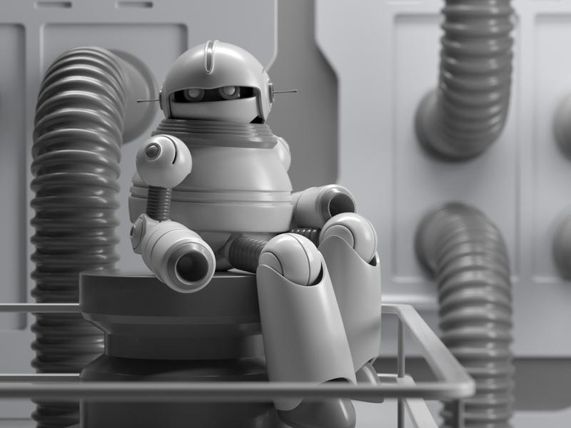 ROBOT robot design illustration octane 3d c4d render character