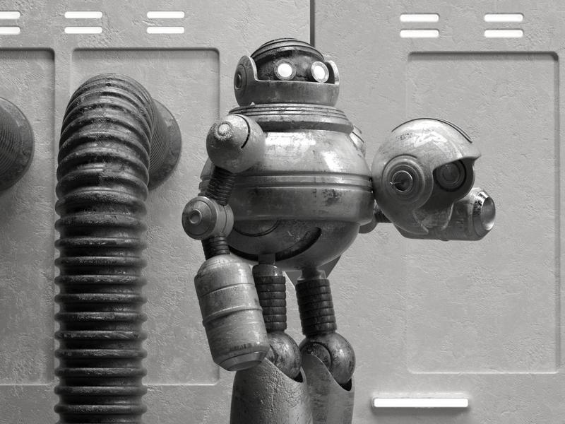 ROBOT robot illustration octane 3d c4d render character