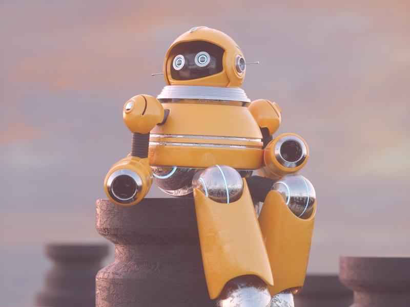 ROBOT robot octane c4d 3d render character