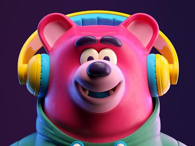 OSO oso bear illustration octane 3d c4d render character
