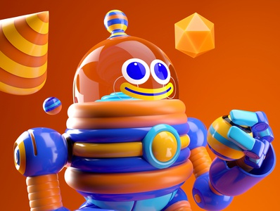 ROBOT robot illustration octane vector 3d c4d render character