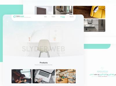 design ui ux Italian furniture website app ui design design ux ui website ui design website design logo mobile ui interface ui design design app