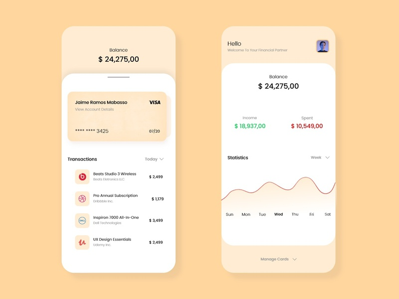 Banking App Design webdesign mobiledesign design uiinspiration mobile uidesigner ux uiux ui uidesign dreamer.design22