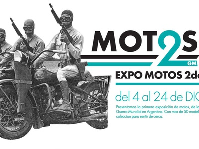 WORLD WAR 2 MOTORCYCLES EXPO logo branding design