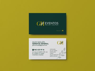 Branding: GH Eventos businesscard logotype logodesign identitydesign branding