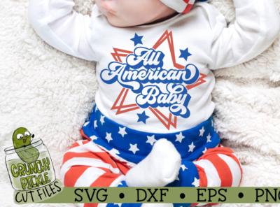 All American Baby SVG Cut File vector design silhouette cameo tshirt design svg cut file cricut