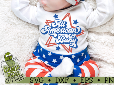 All American Baby SVG Cut File vector design silhouette cameo tshirt design svg cut file cricut