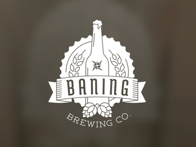 Baning Brew vector logo illustration